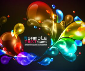 Abstract colorful bright background vector