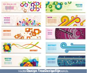 Abstract geometric banner collection vector