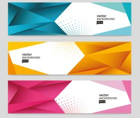 Abstract geometric triangle banner vector