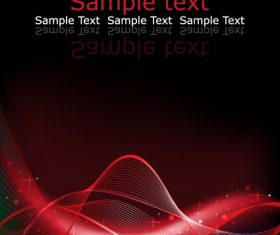Abstract red curve background vector