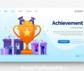 Achievement flat illustration vector