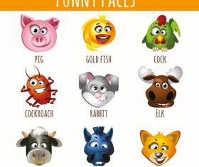 Animal emoji icon vector
