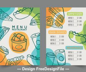Appetizer food menu vector