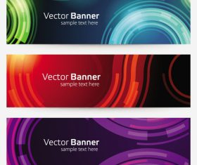 Arc background banner vector