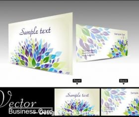 Art business card design vector