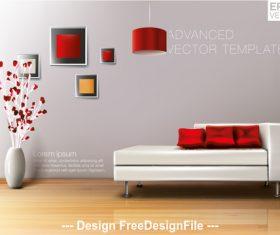 Art decoration living room vector