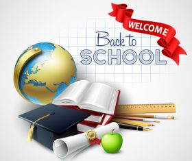 Background vector back to school