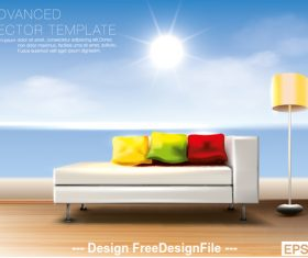 Background wall template vector