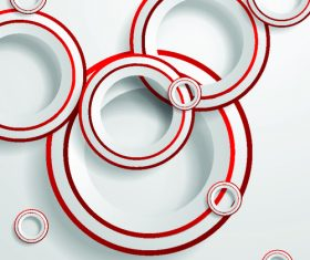 Background with red edges and white circles vector