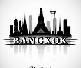Bangkok city silhouette vector