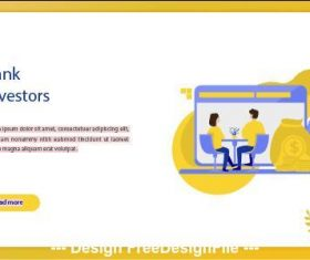 Bank investors business concept vector