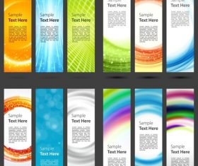 Banner design set vector