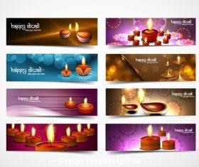 Banner diwali festival vector