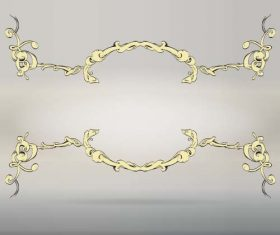 Baroque flowers frame vector