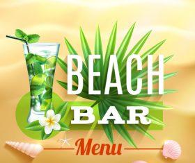 Beach bar poster vector
