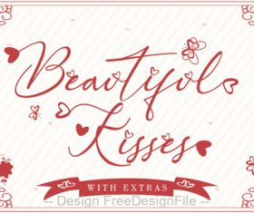 Beautiful Kisses Fonts