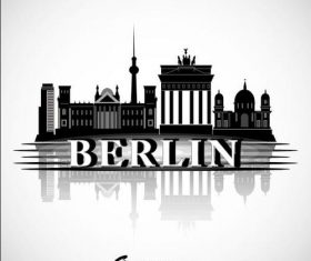 Berlin city silhouette vector