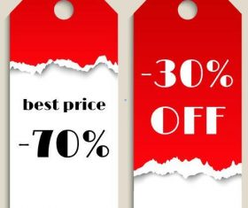 Best price tag template vector
