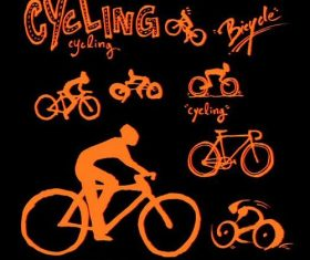 Bicycle sports poster vector