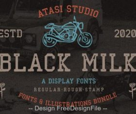 Black Milk Rough Fonts