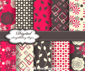 Black and red seamless pattern vector