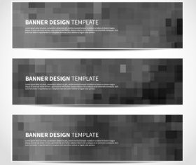 Black background banner template vector