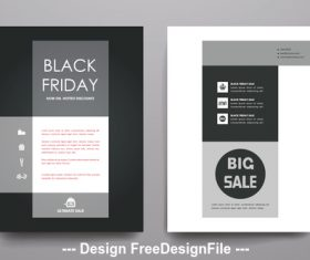 Black friday brochure cover vector