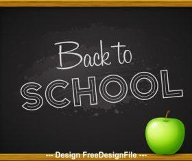 Blackboard background vector back to school