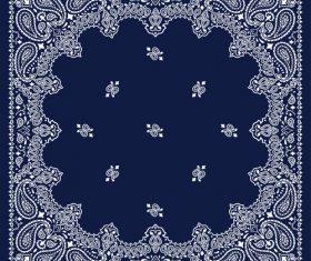 Blue bandana vector