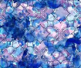 Blue flowers abstract seamless pattern vector