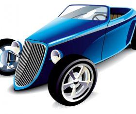 Blue hot rod vector