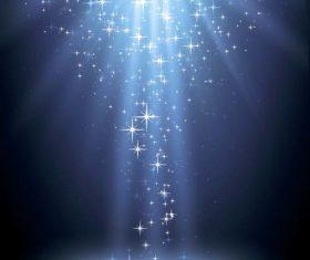 Blue stars shining background vector