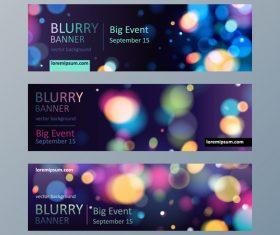 Blurry background banner design vector
