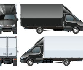 Box truck vector
