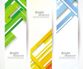 Bright background banner vector