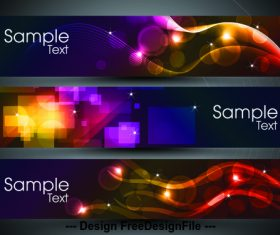 Bright curve background banner vector
