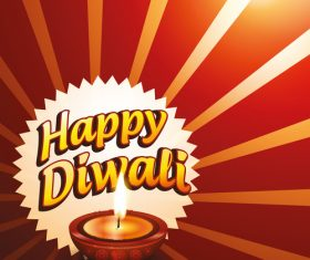 Bright diwali festival background vector