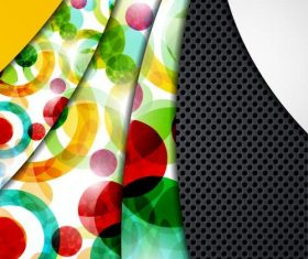 Bright geometric abstract background vector