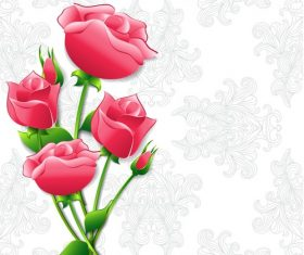 Bright rose flower background vector