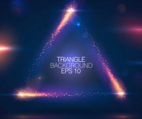 Bright triangle background vector