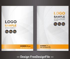 Brochure sample cover vector