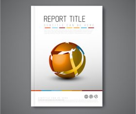 Brochure template abstr shape vector
