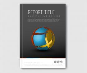 Brochure template dark vector
