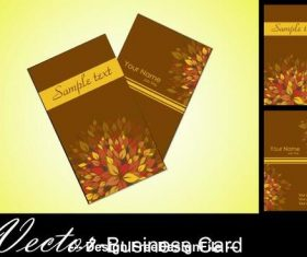 Brown background business card design vector