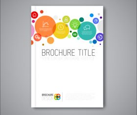 Bubbles brochure cover template vector