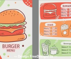 Burger menu vector
