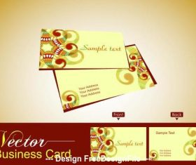 Business card cover abstract art design vector
