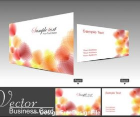 Business card cover abstract flower design vector