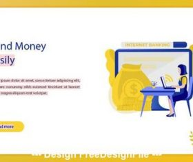 Business concept send money easily vector