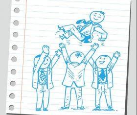 Celebrate comic characters vector
